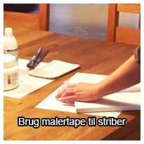 Tutorial videovejledning som viser dig, hvordan du kan lave helt skarpe striber, når du maler