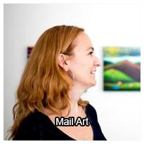 tema om mail art med Caroline Krabbe