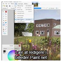 Tutorial videovejledning: Lær at redigere billeder i Paint.net