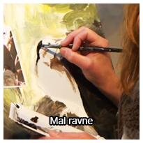 Tutorial videovejledning som viser dig, hvordan du kan male ravne