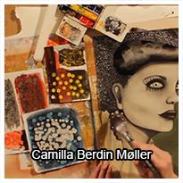 Teknik stearin effekt i akvarel og akryl