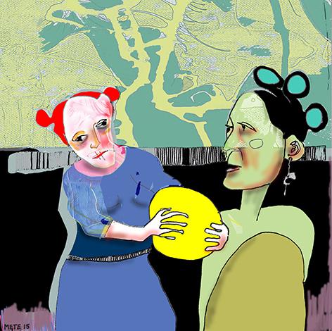 Billedkunstner Mete Dahlstrøm de Vroom