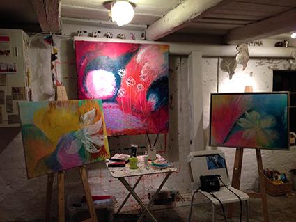 Lone Edith Jørgensens atelier