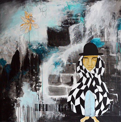 Maleri af Lone Edith Jørgensen