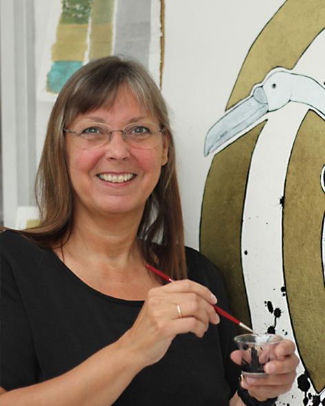 Jette Reinert er månedens kunstner i Kunstskolen Annes Atelier