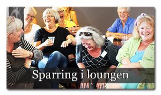 Loungen er kunstskolens sparringsforum, hvor du kan sparre med alle de andre kunstnere...