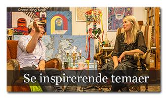 ✓ Få kunstnerisk inspiration og nye lærerige input hver eneste måned