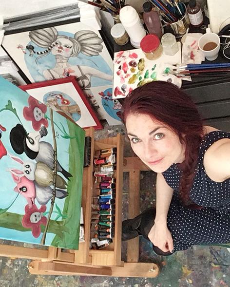Kitt Buch er månedens kunstner i Kunstskolen Annes Atelier