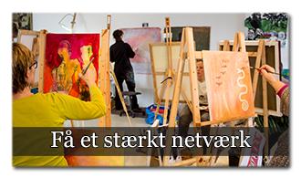 ✓ Bliv en del af et enormt netværk af kunstnere, som hjælper hinanden