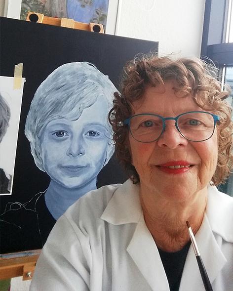 Vivi Kring er månedens kunstner i Kunstskolen Annes Atelier