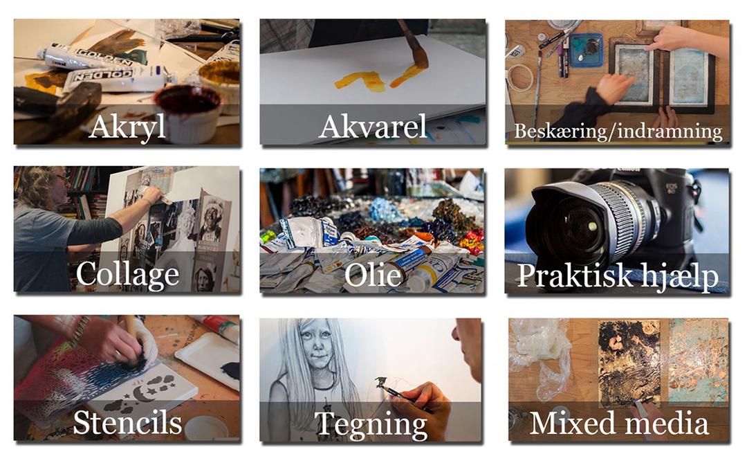 Træn dine færdigheder i Kunstskolen Annes Atelier