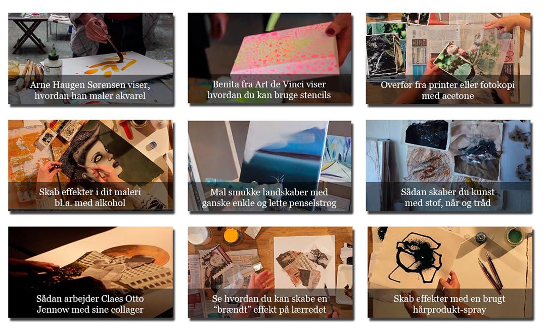 Lær en masse nye teknikker i Kunstskolen Annes Atelier