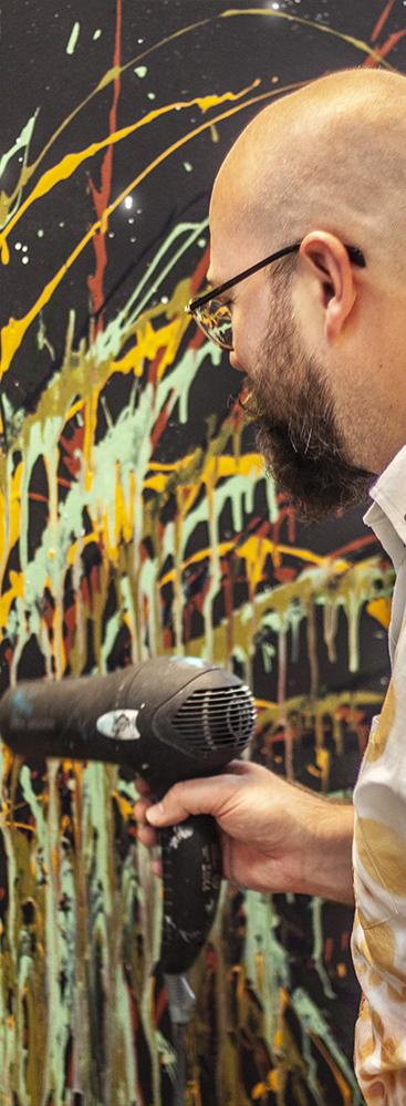 Intuitivt maleri med Jonas Pihl - i Kunstskolen Annes Atelier
