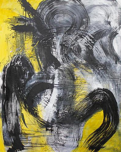 Den grimme ælling - 150x120 - akryl på lærred