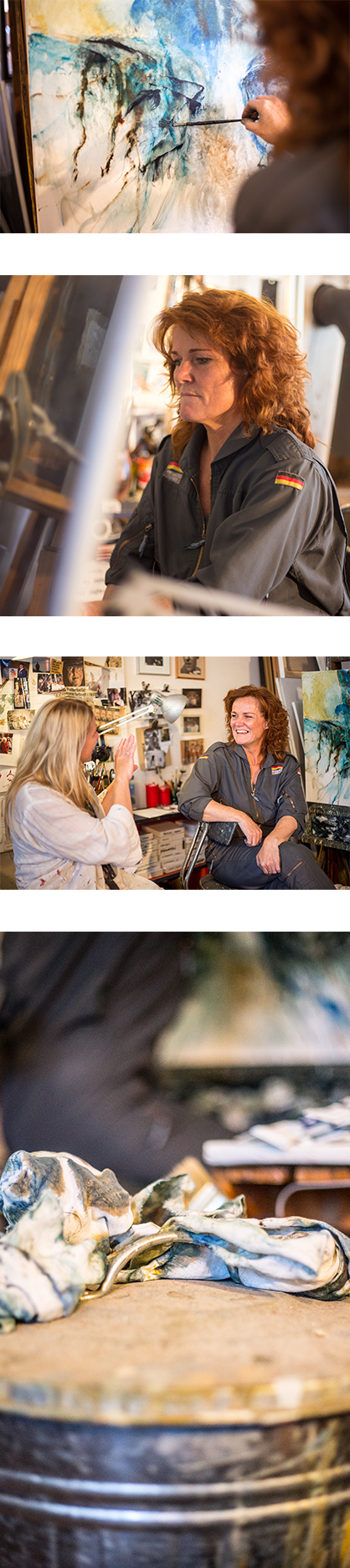Malene Hammershøj hjælper dig godt i gang - og videre med dit maleri i Kunstskolen Annes Atelier