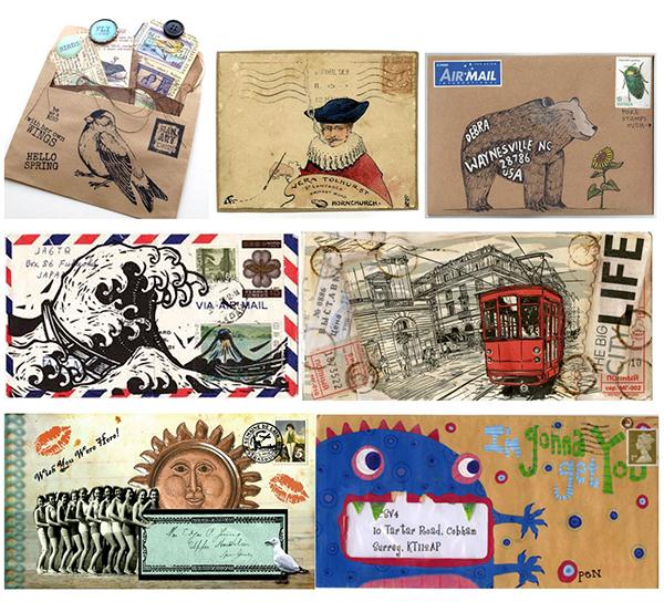 Eksempler på mail art