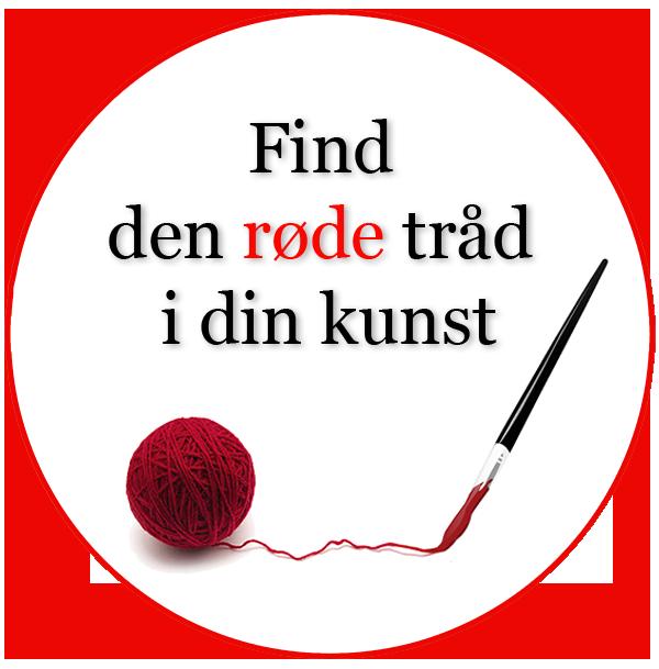 """Tilmeld dig nu og få kurset """"Find den røde tråd i din kunst"""" med"""