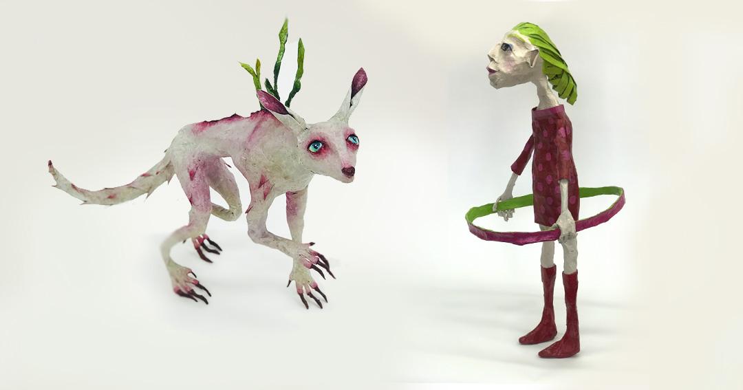 Alebrijes-skulpturer af Mette og Else Frøsig